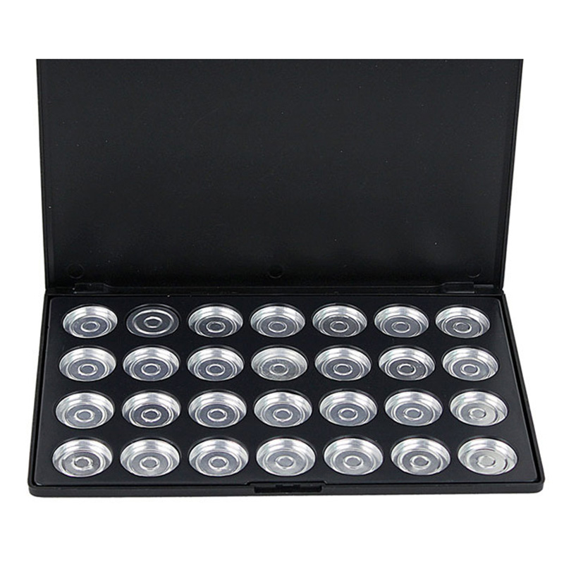 28 Piece Pots Empty Cosmetic Eyeshadow Pigment Aluminum Palette Tin Pans Makeup