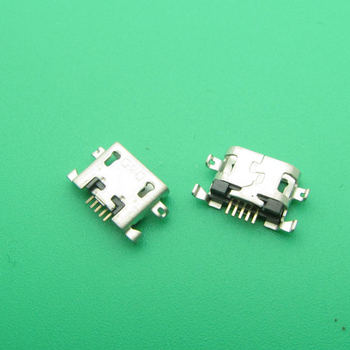 100pcs/lot For Alcatel OT7040 OT 7040 micro usb charge charging connector plug dock socket port jack replacement repair 5-pin
