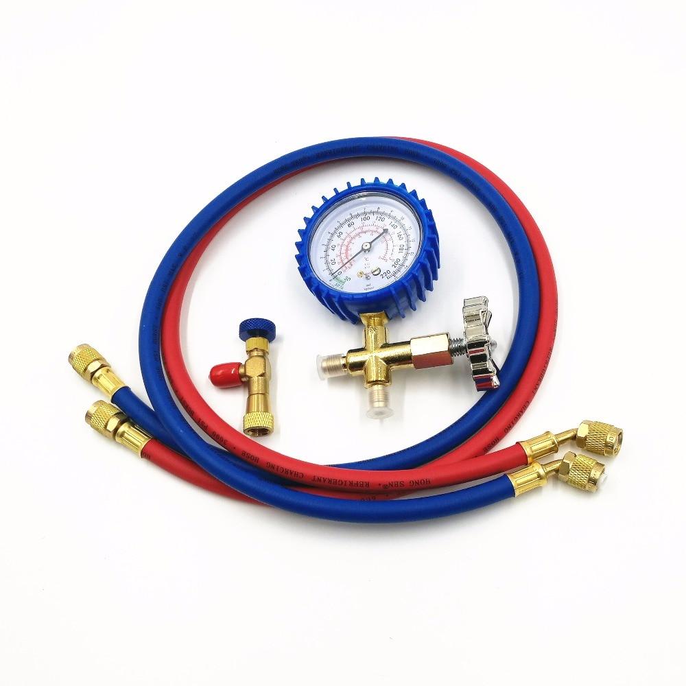 Vakuum Pumpe Zubehör HS-466AL Klimaanlage Kühlschrank Kältemittel Niedrigen manometer Druck mit R22 sicherheit ventil