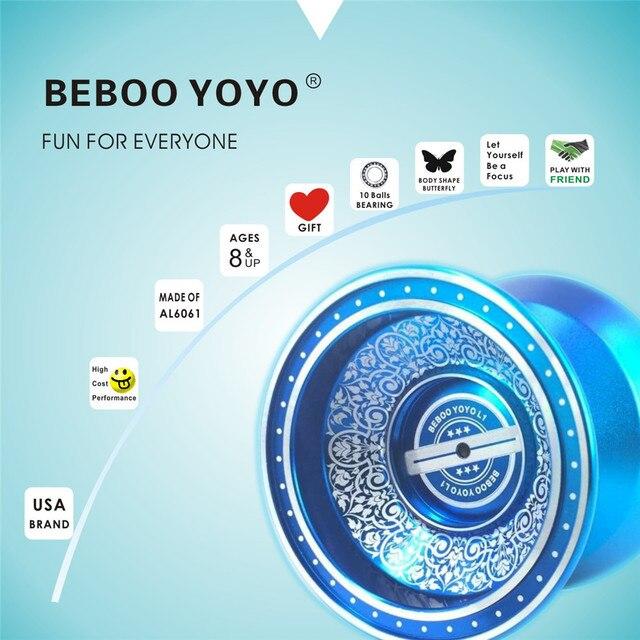 Free shipping hot sale ball bearing beboo yoyo l1 upgraded version free shipping hot sale ball bearing beboo yoyo l1 upgraded version alloy aluminum yo yo metal ccuart Gallery