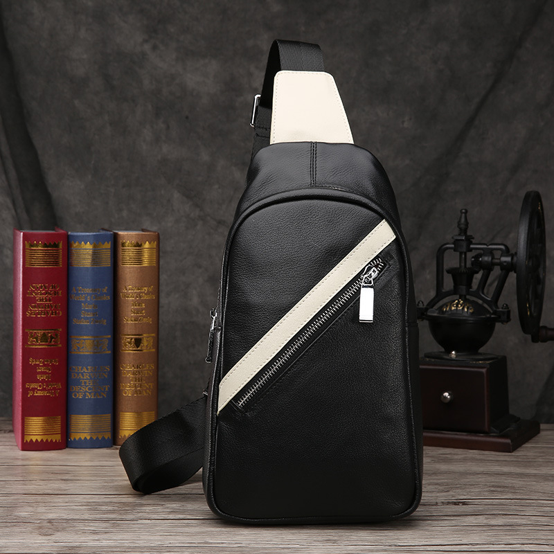 Men Genuine Leather Chest Bags Fashion Crossbody Bags for Men Waterproof Messenger Bags Shoulder Bags Travel Back Pack men military chest bag high quality man laptop crossbody bags nylon male travel back pack waterproof big shoulder messenger bags