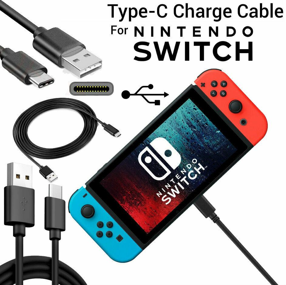 Kuulee For Nintend Switch Charger Charging Lead Cable Long Cable