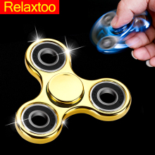 Plastic Fidget Spinner Hand EDC Relieve Stress Toy Plating Finger Spiner Old Adult Kid Gift Gyro Toy For ADHD Autism