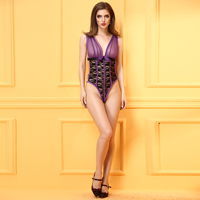 O novo 2016 ms adulto sexy lingerie de renda transparente de renda Deslizamentos
