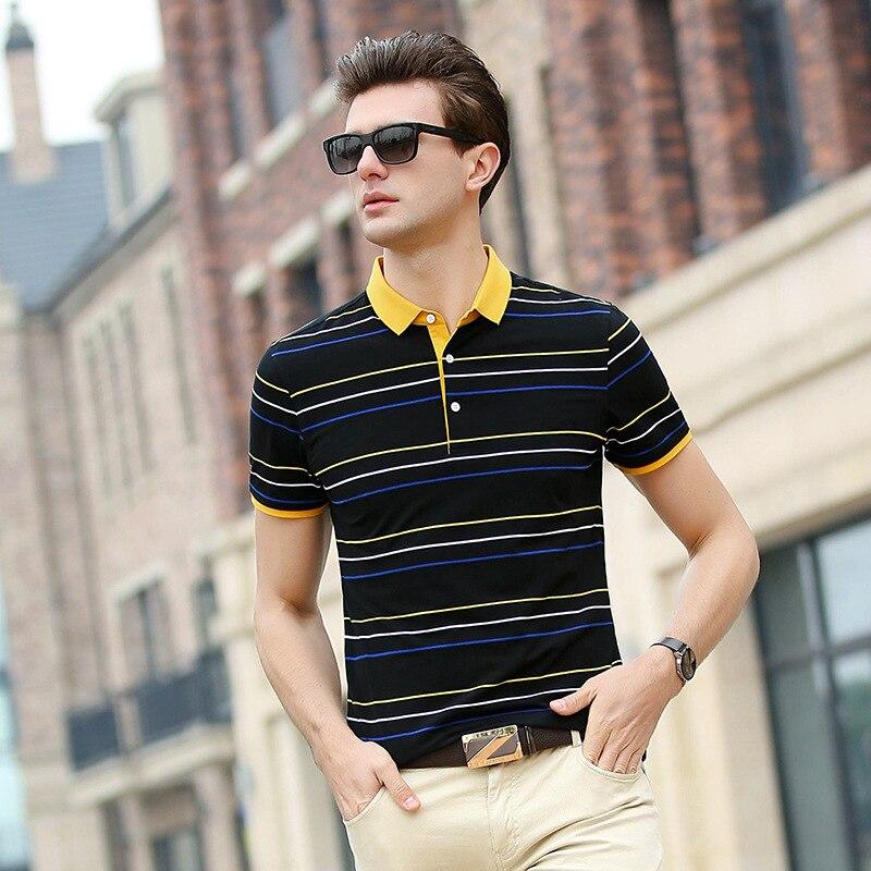 Neue Marke Polo-shirt Männer 2018 Sommer Mode Gestreiftes Kurzarm Baumwolle Stickerei Designer Business Casual Plus Größe Q-3823 So Effektiv Wie Eine Fee Mutter & Kinder