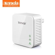 1 шт. Tenda P202 200 Мбит/с Powerline Ethernet адаптер, PLC Адаптер, совместимый с беспроводным Wi-Fi роутером, IPTV, Homeplug AV