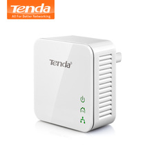1PCS Tenda P202  200Mbps Powerline Ethernet Adapter, PLC Adapter, Compatible with Wireless Wi Fi Router, IPTV, Homeplug AV