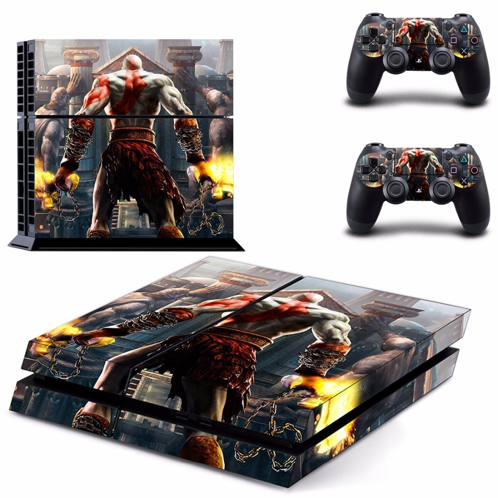 God of War Vinyl PS4 Skin Sticker for Sony playstation 4 Console and Controller image