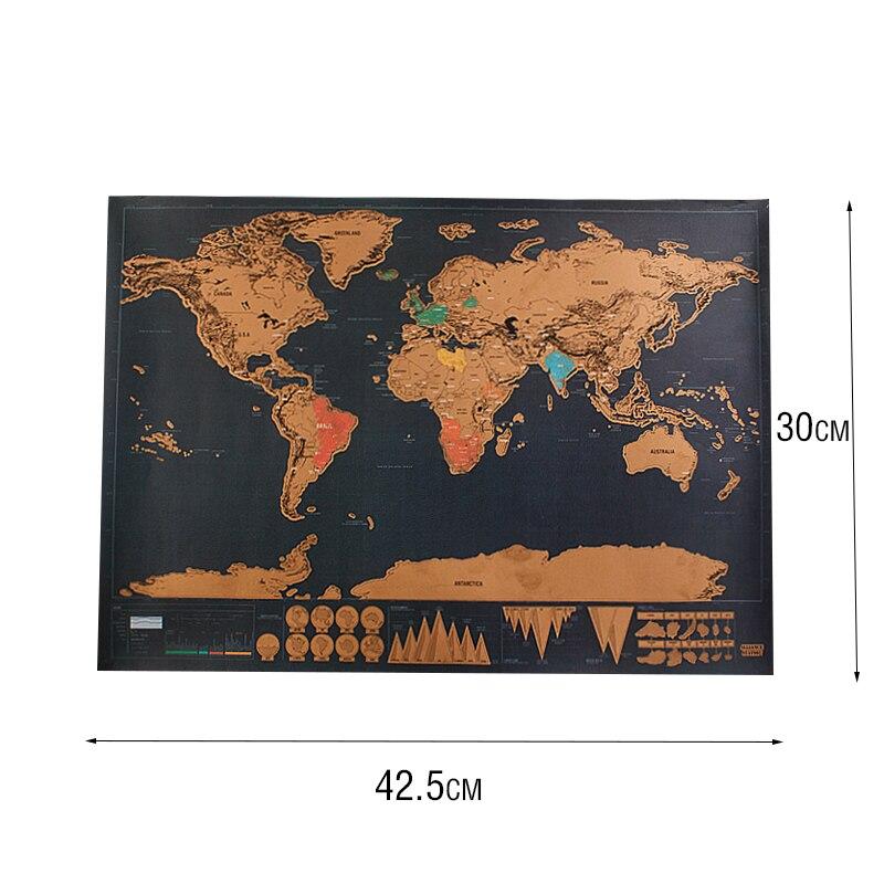 Silməli Səyahət Xəritə Divar Dekoru Etiket Dünya xəritəsi - Ev dekoru - Fotoqrafiya 3