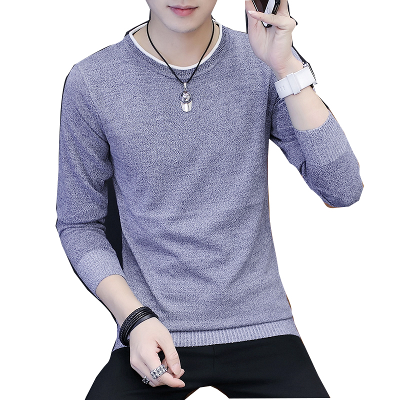 Men's Sweater Long-Sleeved Autumn Korean Trend And of Youth Spring Viscose Meteor Thin