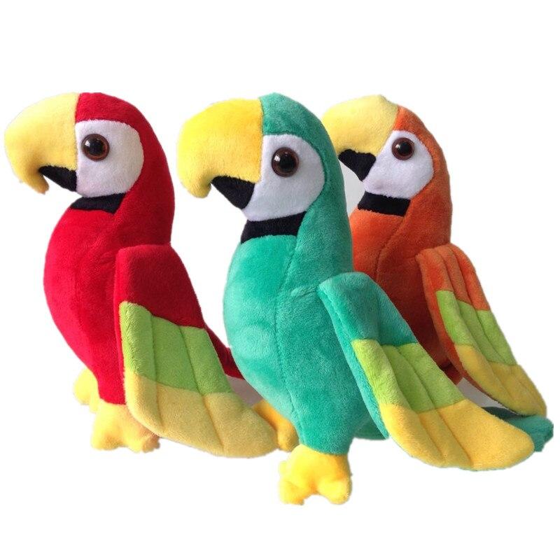 Cute Simulation Cockatiel Parrot Doll Kid Gift Stuffed Bird Plush Toy S7