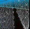 3 M x 3 M 300 LED ao ar livre casa Warm White decorativa do natal natal fada cordas guirlandas cortina tira luzes do partido para o casamento