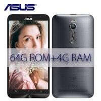 החדש ASUS Zenfone 2 Z3580 Ze551ML 64 GB ROM 4 GB RAM 2.3 GHz אנדרואיד 5.5 inch 3000 mAh טלפון נייד ה-sim הכפול 13MP Quad Core LTE 4 גרם