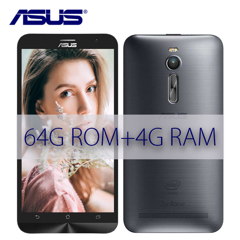 New ASUS Zenfone 2 Ze551ML 64GB ROM 4GB RAM 2.3GHz Z3580 Android 5.5 inch 3000mAh 13MP Quad Core LTE 4G Dual Sim Mobile Phone