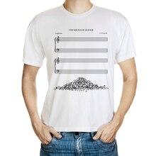 DY 177 fashion mens novelty music score printing t shirt design music fans t shirts white