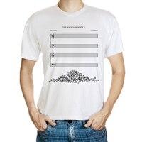 DY-177 mens di modo della novità music score stampa t shirt design gli appassionati di musica non shirt top bianco tee shirt taglia M-3XL hip-hop camicia