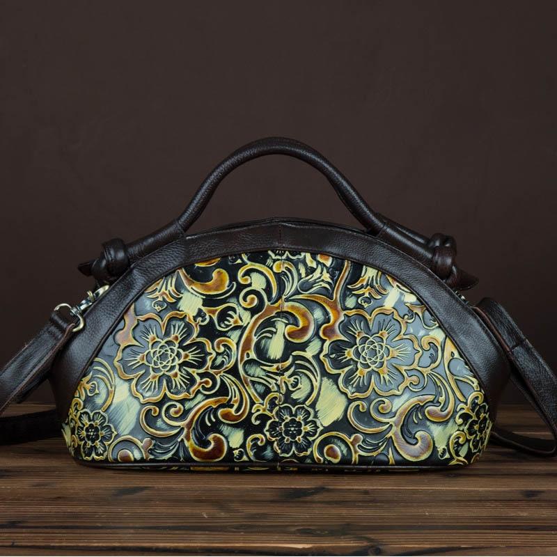 New Arrived Geuine Leather Female Bags Vintage Fashion Shoulder Messenger Bag For Women Brush Color Handmade Ladies Totes LS9025 шина husqvarna 18 3 8 sn 1 5мм 68зв 585950868