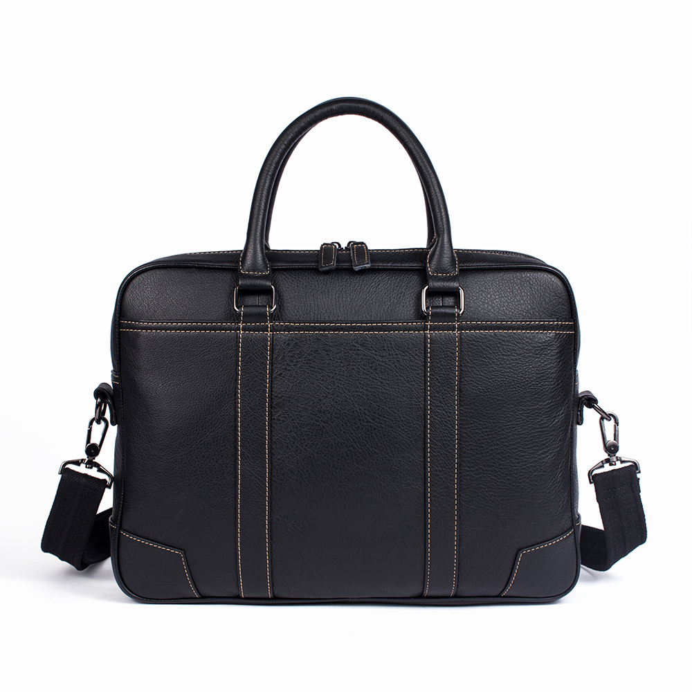 Men Briefcase Bag Genuine Leather Laptop Male Bags Business Zipper Briefcases Men's Casual Tote Shoulder Handbag Crossbody Bags