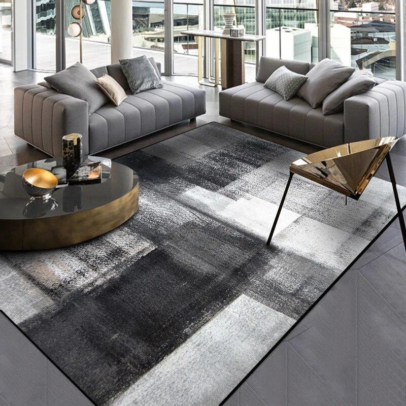 mode simple noir gris abstrait tapis porte florale cuisine tapis salon table a the chambre etude salle zone tapis tapis
