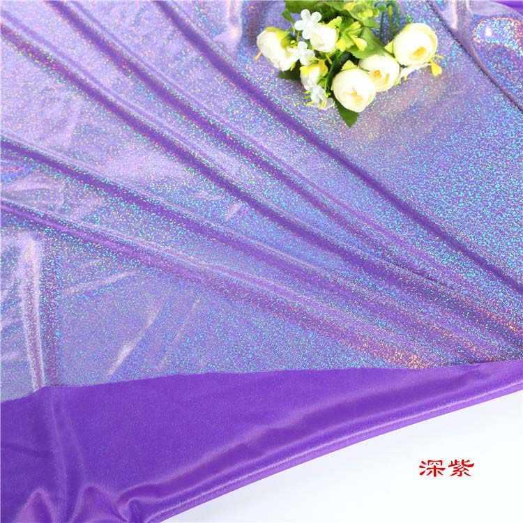 50 см * 150 см Лазерная сценическая ткань красочные лазерные бронзовые ткани свадебные украшения эластичные мягкие кукольные ткани ручной работы