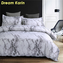 Classic Marble Texture Duvet Cover Set Simple Nordic Bedding Sets with Pillowcase Queen Double King Sizes Quiltcover BedClothes