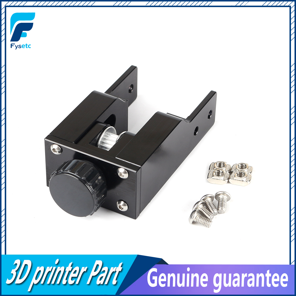 3D Printer Parts Black 2040 Profile Y-axis Synchronous Belt Stretch CR10 Straighten Tensioner For Creality CR-10 CR10S3D Printer Parts Black 2040 Profile Y-axis Synchronous Belt Stretch CR10 Straighten Tensioner For Creality CR-10 CR10S
