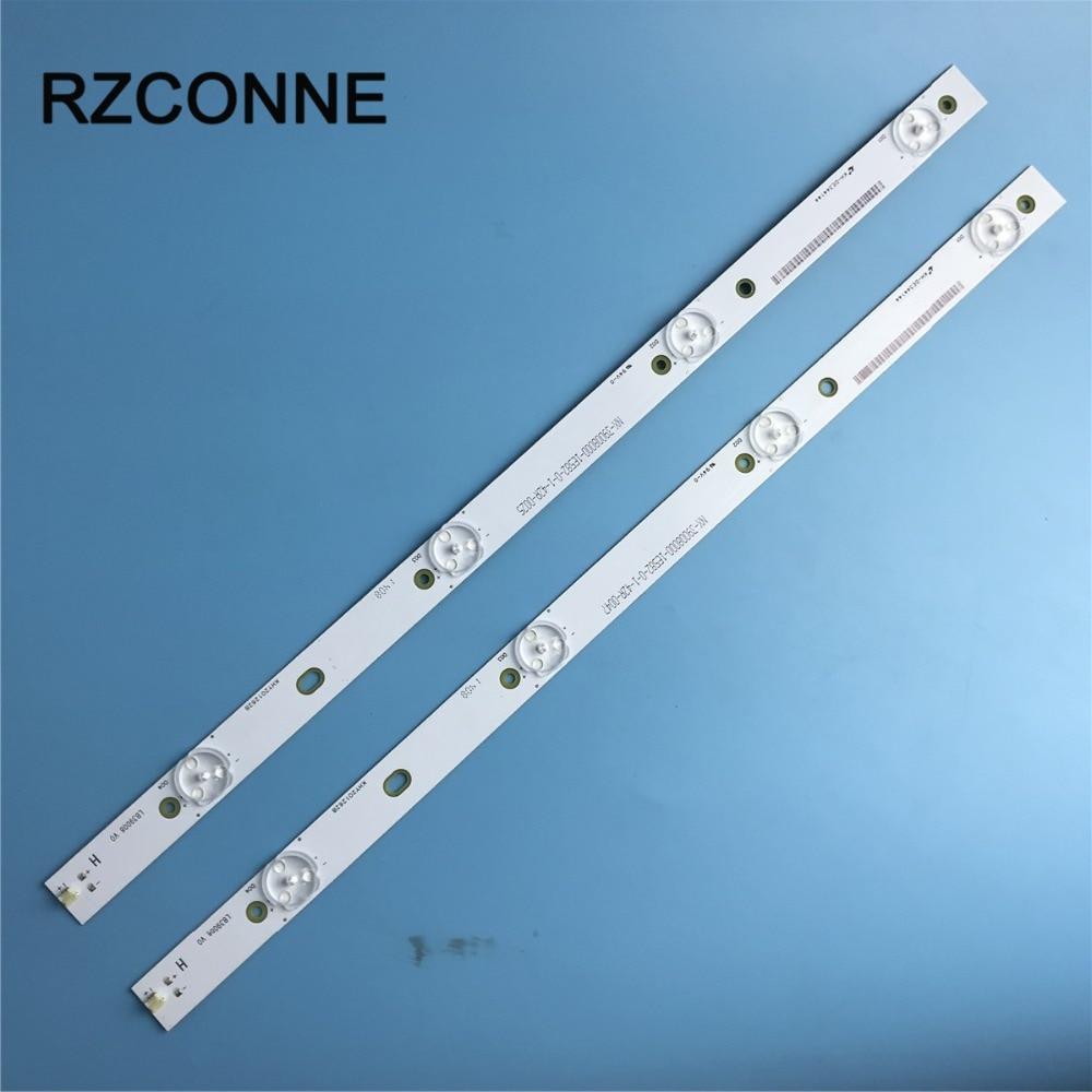 2pcs Universal LED Backlight Strips 407mm*20mm 4leds 3v W/ Optical Lens For  Modified TV Monitor