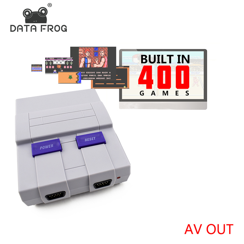 Data Frog Retro Mini Family TV Video Game Console 8 Bit TV Game Consoles Built In 400 Classic Games Support PAL & NTSC new single side figer diamond crystal evening bags clutch rhinestones handbag hot styling day clutches lady wedding women purse