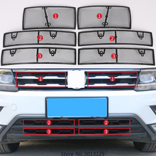 цена на Car Insect Screening Mesh Front Grille Insert Net Accessories For Volkswagen VW Tiguan MK2 2017 2018 2019 Car Stylings