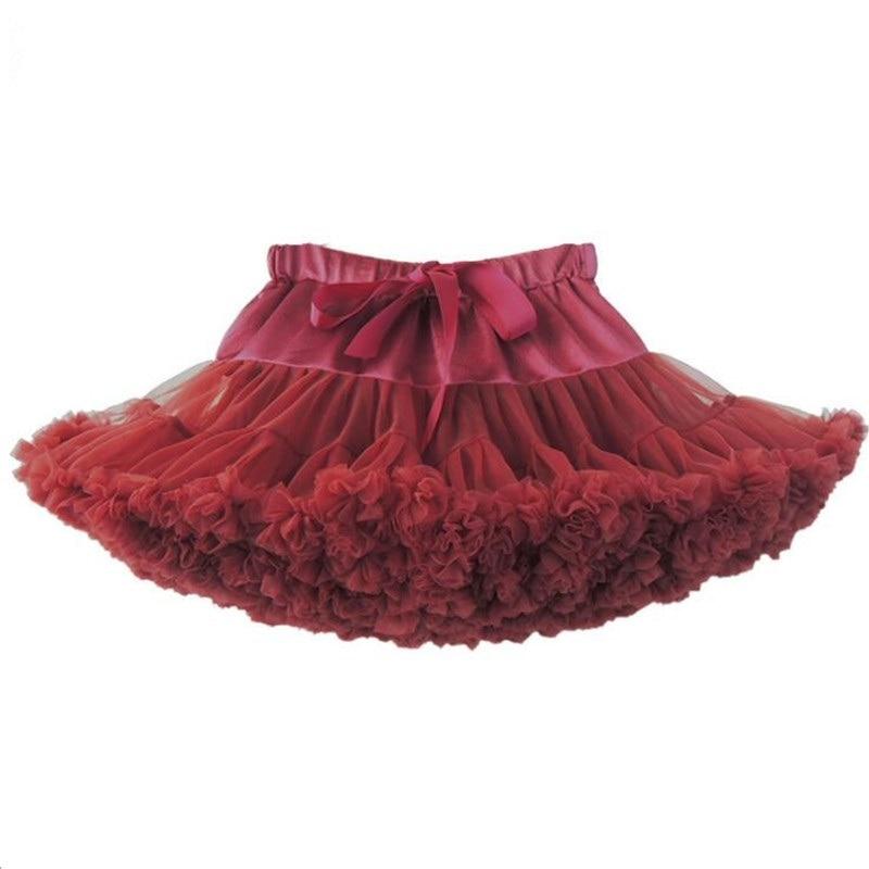 Girls Tutu Skirts Ballerina Pettiskirt Layer Fluffy Baby Girl For Party Dance Princess Tulle Miniskirt For 1-10Years