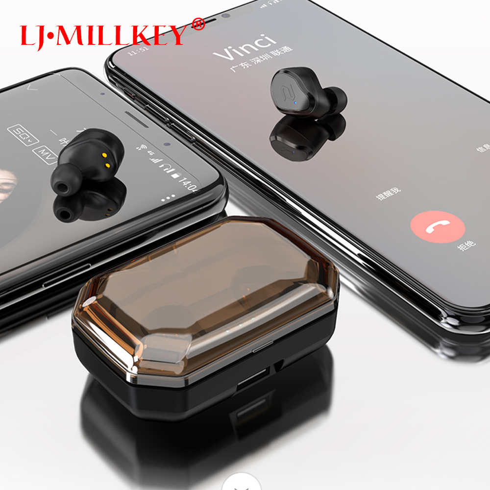 Bluetooth 5.0 Touch Control Hifi Earphone with Mic IPX6 waterpr TWS Wireless Earbuds Stereo Mic for Phone with Charger Box YZ209 tws 5 0 bluetooth earphone touch control stereo music in ear type ipx6 waterproof wireless earbuds with charging box yz209