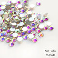 Sale! Super Shiny ss3-ss40 1440pcs/Bag  Clear Crystal AB color 3D Non HotFix FlatBack Nail Art Decorations Flatback Rhinestones