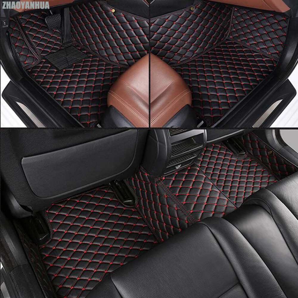 ZHAOYANHUA car floor mats for Mercedes Benz A C W204 W205 E W211 W212 W213 S class CLA GLC ML GLE GL rug car-styling liners custom fit car floor mats for mercedes benz w176 a class 150 160 170 180 200 220 250 260 car styling carpet liners 2013