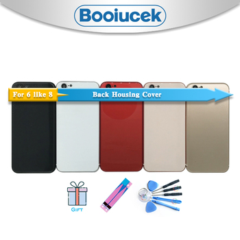 Высокое качество для iphone 6 6G 6S Like 8 стиль корпус крышка батареи дверь задняя рамка Шасси задняя крышка + стикер батареи и инструмент