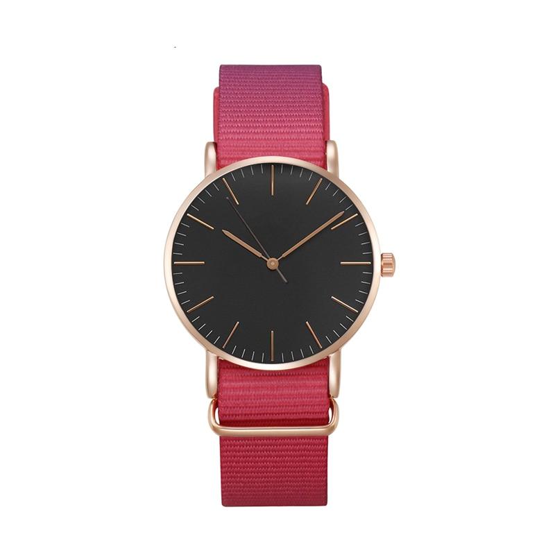Nowa moda 18 MM nylon pas kobiet zegarek business casual marka - Zegarki damskie - Zdjęcie 4