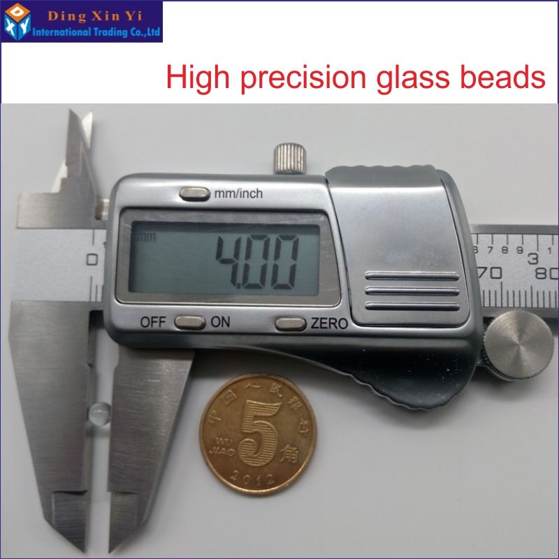 2000pcs/lot High Precision 4mm Glass Bead Laboratory With Glass Beads