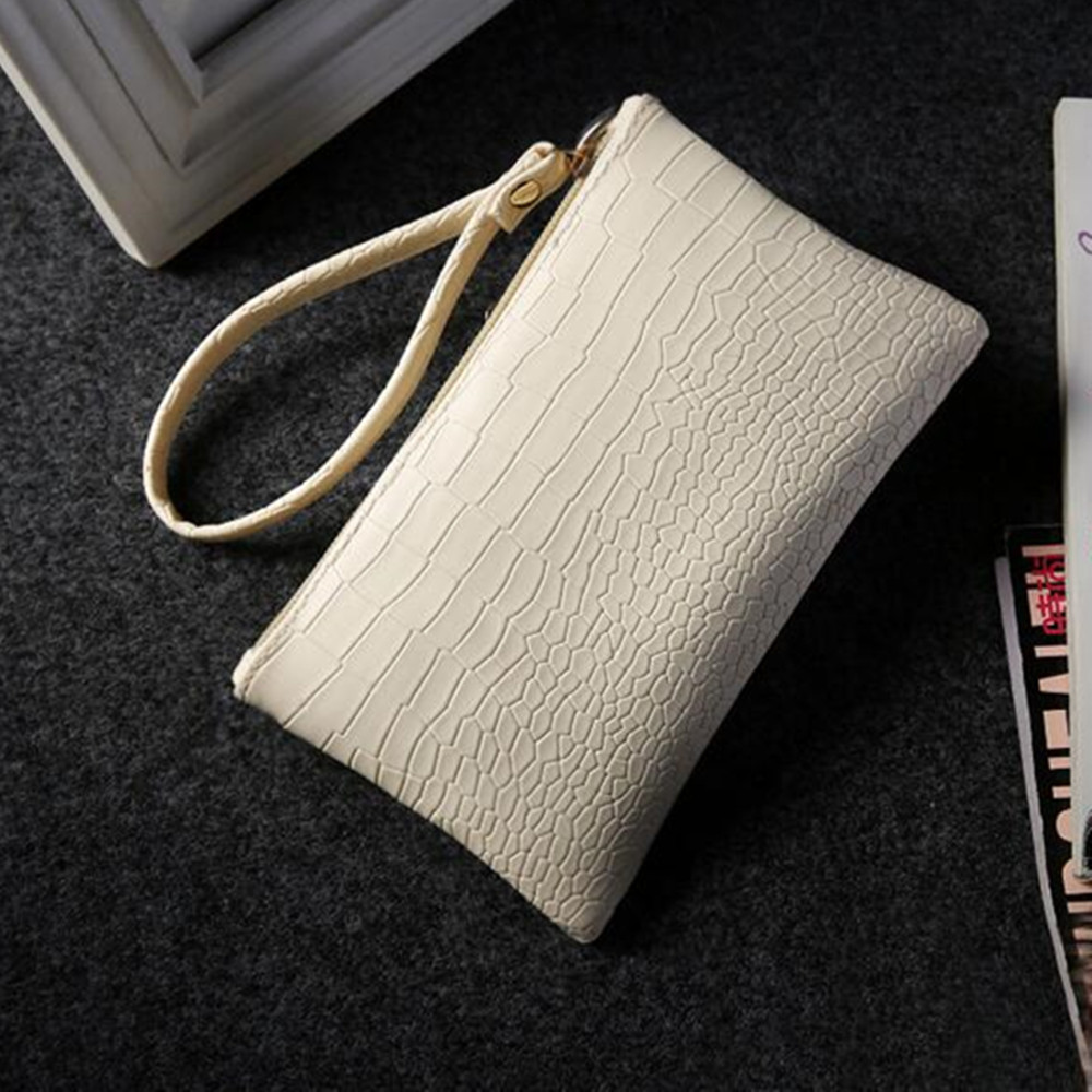 Artificial leather card bag mini wallet coin change purse solid color phone pouch china