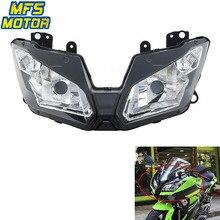 For 13-15 Kawasaki Ninja 300 EX300 Motorcycle Front Headlight Head Light Lamp Headlamp Assembly 2013 2014 2015 motorcycle headlight front headlamp light fits 2013 2014 for kawasaki z800 z250 dedicated