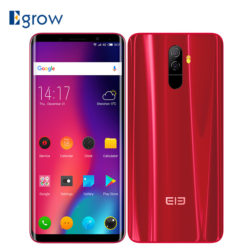 Elephone U Pro Qualcomm Snapdragon 660 Android 8.0 Cell Phones 5.99 Face ID Smartphone 6GB RAM 128GB ROM 3550mAh mobile Phone