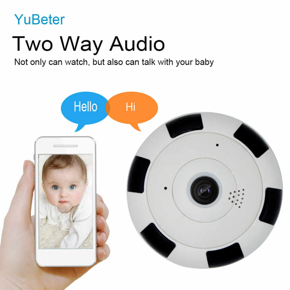 YuBeter 960p 360 Degree Panoramic Camera Wireless IP Camera Bulb Home Security Video Surveillance Fisheye Lens Two way Audio