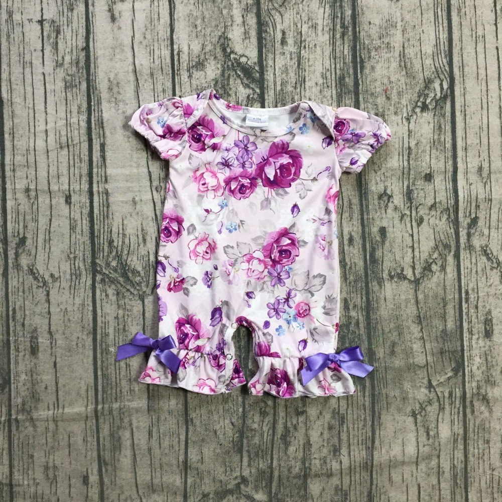 2bf5fbd855e9 new arrival baby girls summer romper infant toddler girls lavender floral  romper baby kids girls floral summer romper outfits