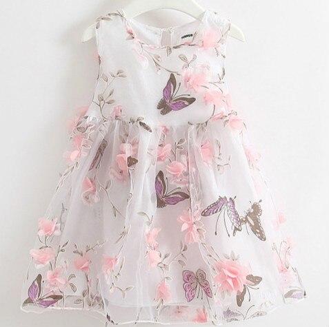 Лето 2016 Девушки Цветка Платье Вечернее Платье Принцессы Детская Одежда Платья Свадебные Платья Ренда Рапунцель Одеяние Fille Enfant Костюм
