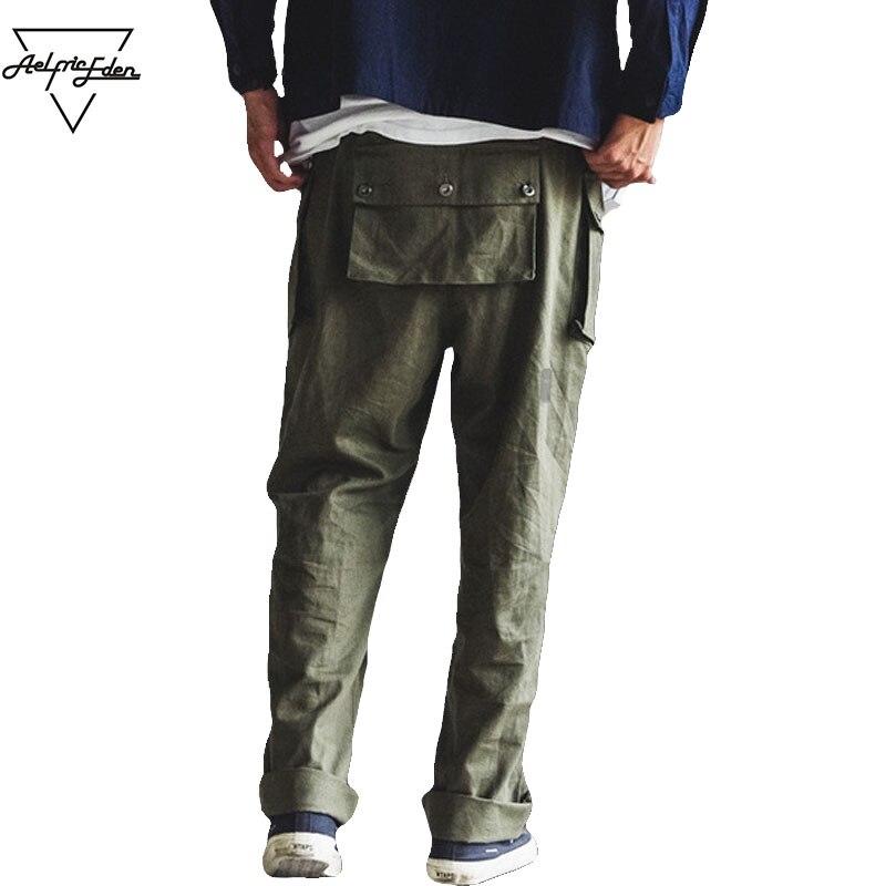 Aelfric Eden Men Cargo Pants Wide Leg Pants Multiple Pockets Casual Pants Hip Hop Sweatpants Male Joggers Pant PA141