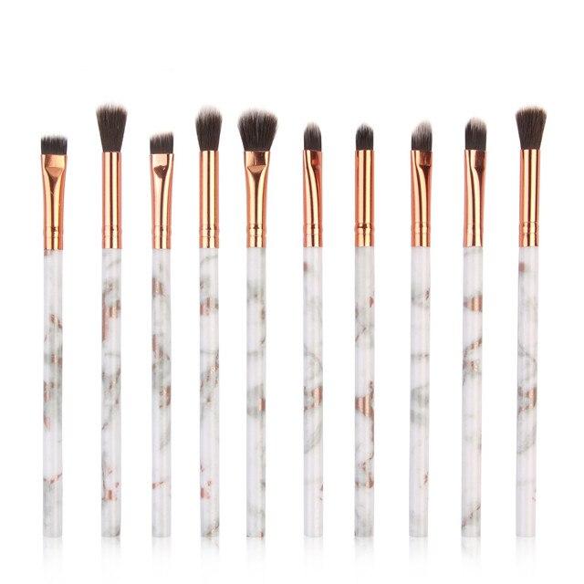 MAANGE pinceles de maquillaje 10 pc cepillo de maquillaje cepillo corrector de sombra de ojos de los cepillos conjunto herramienta 2019 Feb14