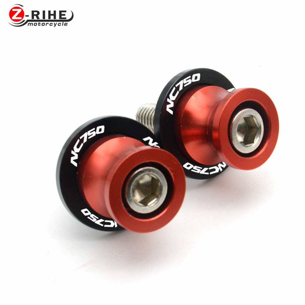 for 6MM 8MM 10MM 1 pair of motobike accessories aluminum swingarm spools sliders For honda NC700 S/X 12-14 NC750 S/X 15