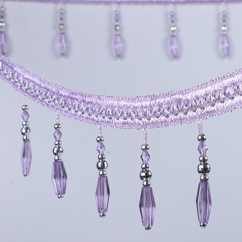 12yards Curtain Lace DIY Crystal Beaded Ribbon Drapery