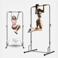 Widen 105cm Base Indoor Horizontal Bar, Capacity 150KG Pull Up Bar with Thicken Steel Pipe, 5 Grade Adjust Fitness Chin Up
