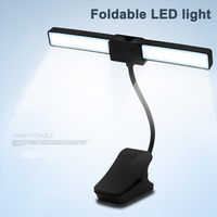 Table Lamp Rechargeable Foldable LED Eye care Light with Clip for Reading Student WWO66