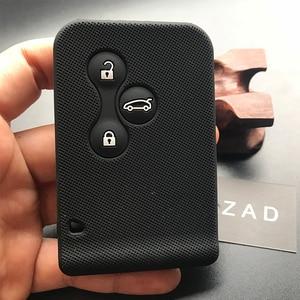 Image 2 - ZAD gumy silikonowej samochód karta klucz skrzynki pokrywa dla Renault Clio Megane Grand Scenic 3 przycisk obudowa kluczyka do samochodu przypadku powłoki