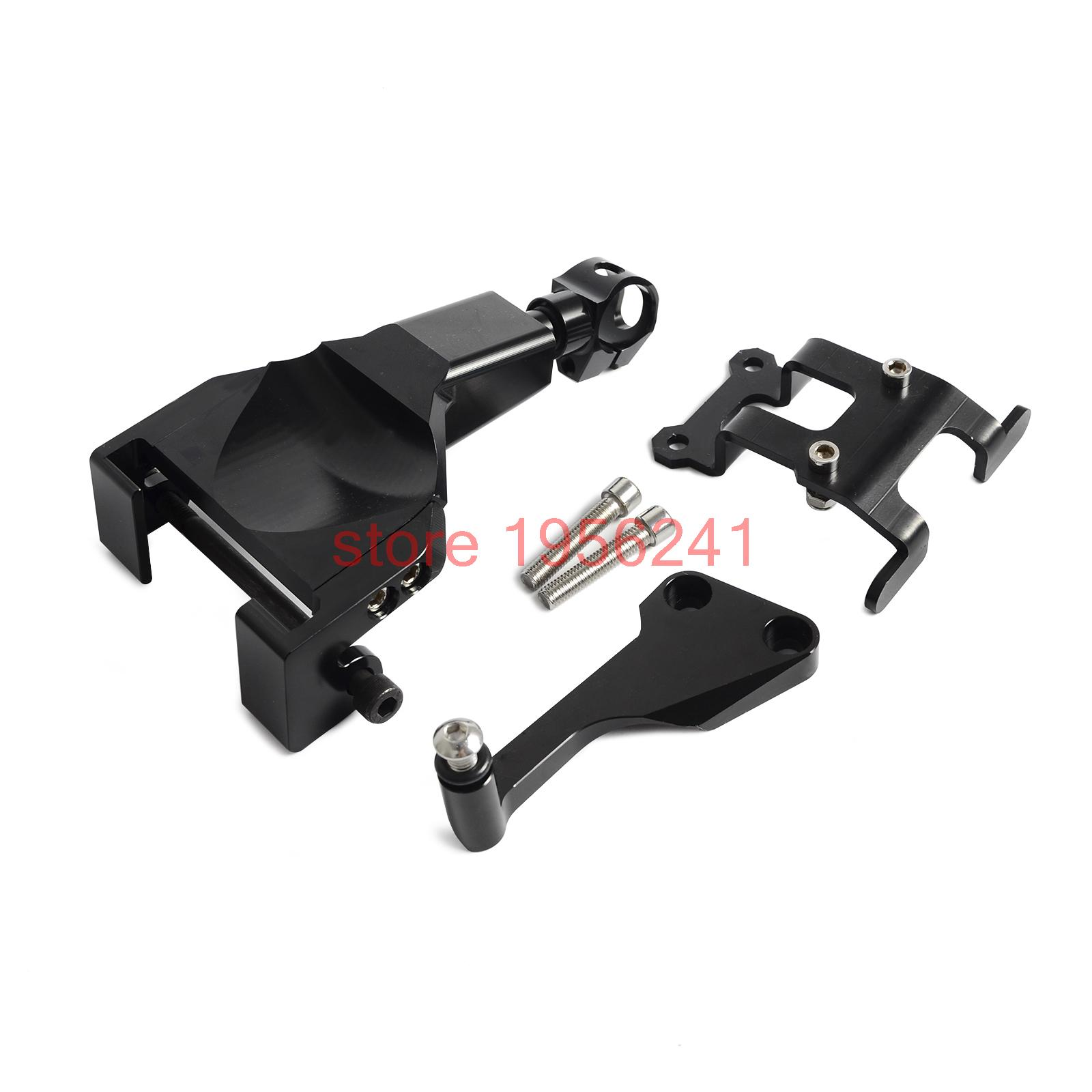 Black Motorcycle Stablizer Damper Mounting Bracket Kit For Yamaha MT-07 MT07 MOTO CAGE 2014 2015 2016 motorcycle cnc aluminum windscreen windshield mounting bracket for yamaha mt07 mt 07 2014 2015 2016 red new style with logo